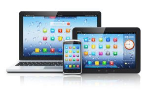 Desktop, Tablet and Smartphone full of app icons