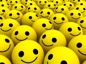 BUnch of smiley face, yellow balls