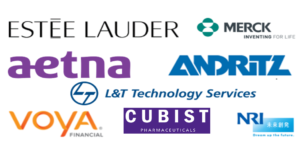 Logos of large customers