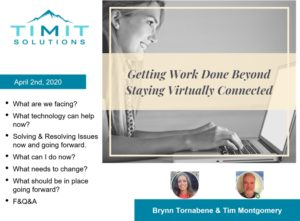Title slide for webinar on how to effectively work from a home office