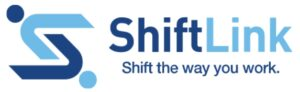"ShiftLink Logo ""Shift the way you work"""